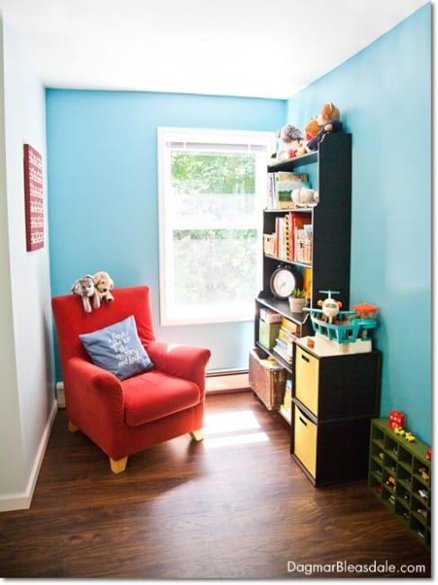 turquoise boy's room