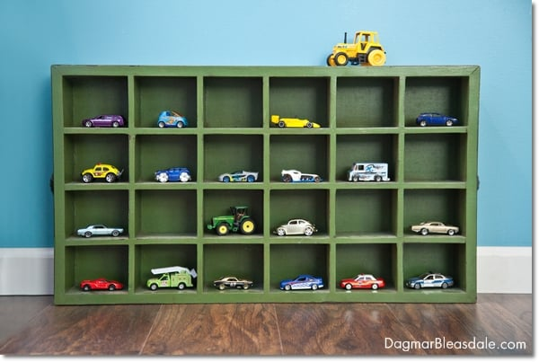 toy car storage in crate