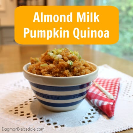 Easy Almond Milk Pumpkin Quinoa