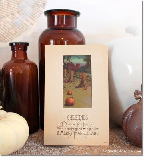 Happy Thanksgiving, vintage postcard