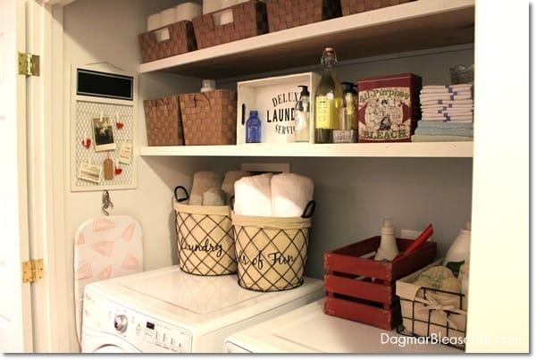 Tiny laundry room, DagmarBleasdale.com