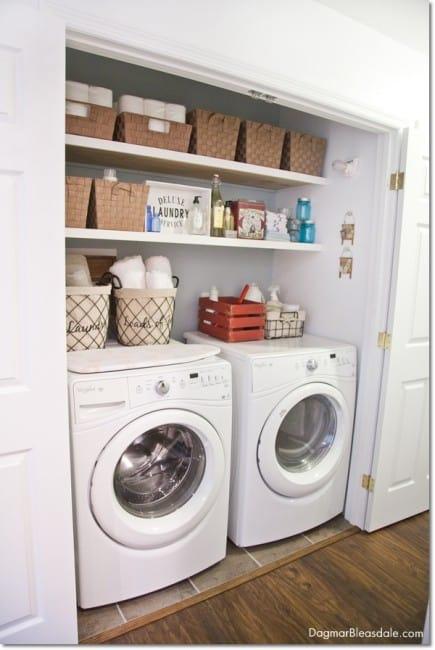 Blue Cottage Decor: laundry closet