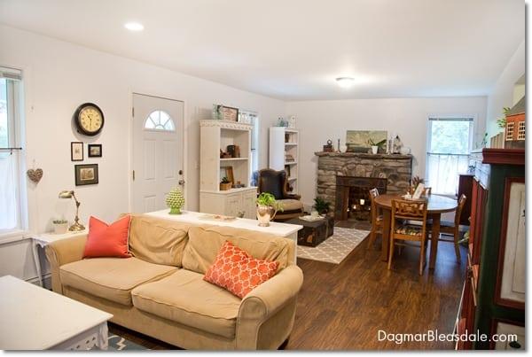 cottage decor living room