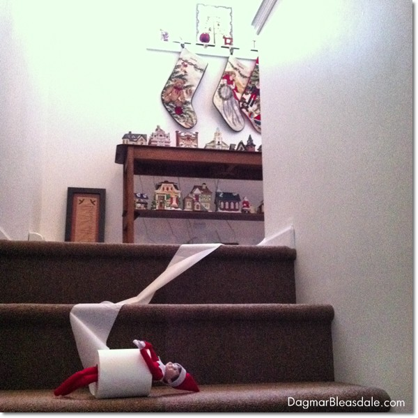 elf on the shelf idea with toilet paper