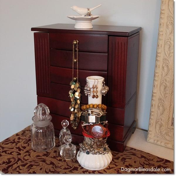 milk glass vase bracelet holder