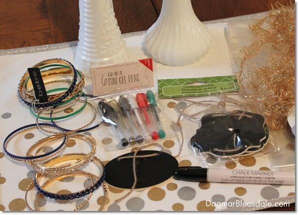 DIY Hostess Gift: Milk Glass Vase Jewelry Holder