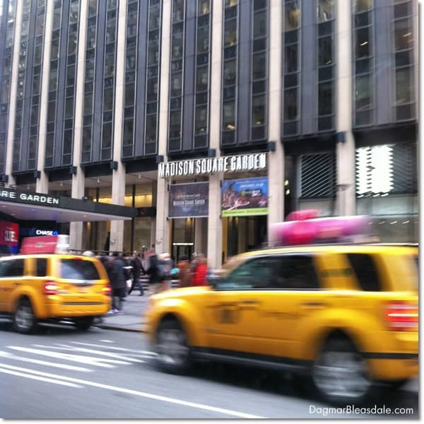 Madison Square Garden and taxis, Manhattan, New York City