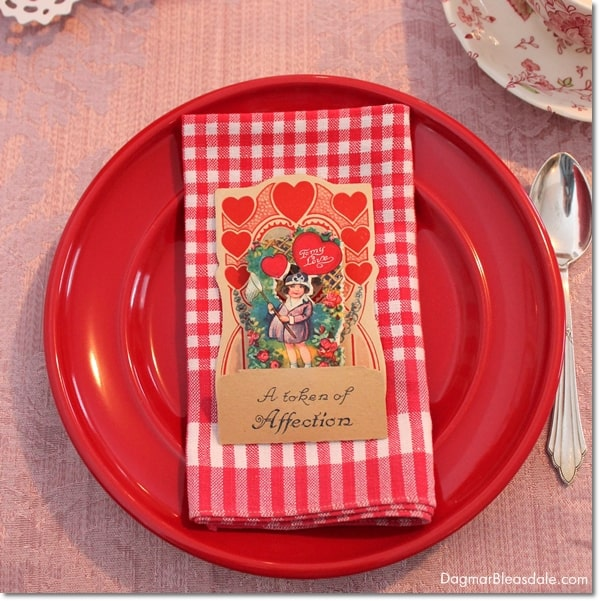 Valentine's Day tablescape, DagmarBleasdale.com