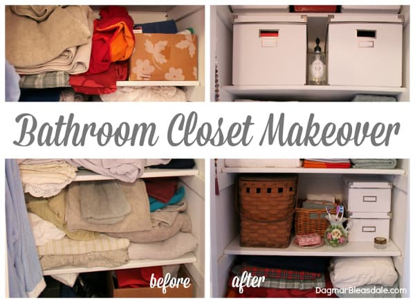 Before & After: Easy Bathroom Closet Makeover