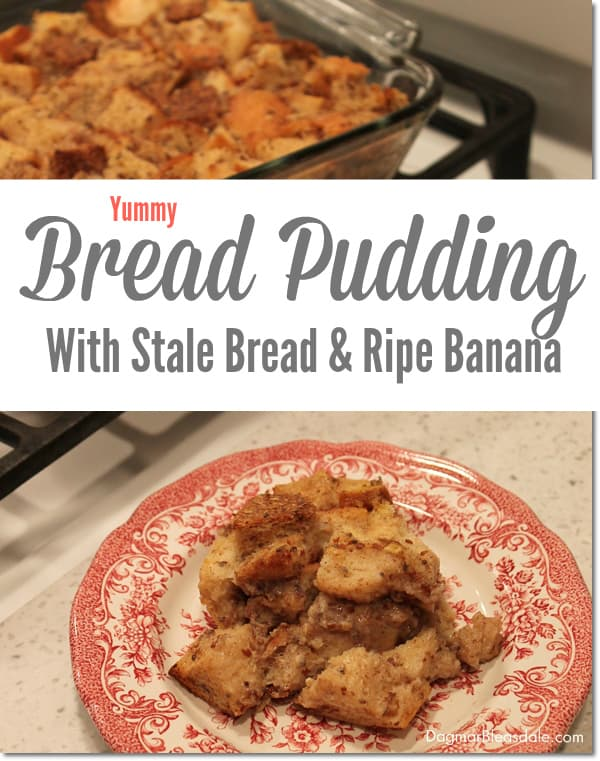 Healthy Bread Pudding With Bananas and Stale Bread