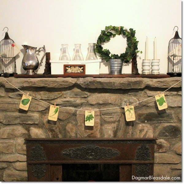 DIY Vintage Seed Packets Banner, DagmarBleasdale.com