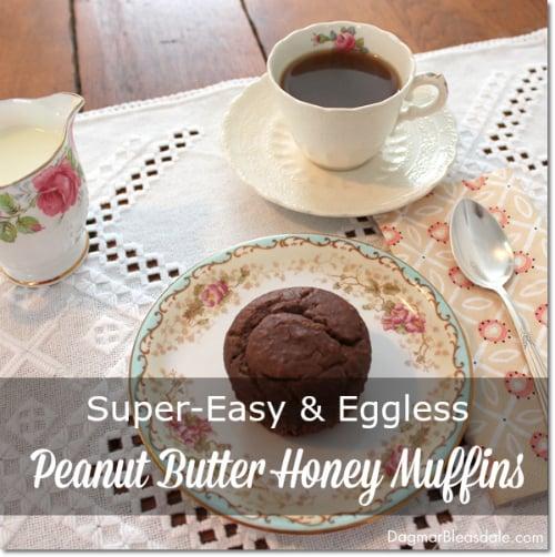 peanut butter honey muffins recipe, DagmarBleasdale.com
