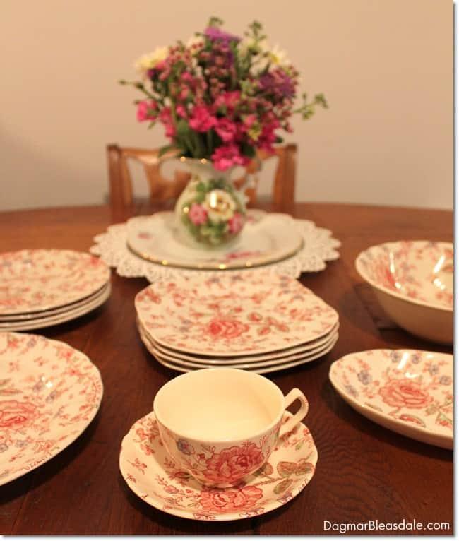 JohnsonBros Rose Chintz china. DagmarBleasdale.com