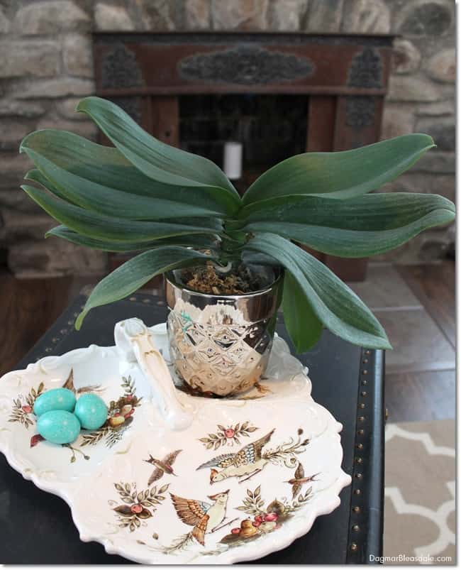 Easy Easter decor with vintage items