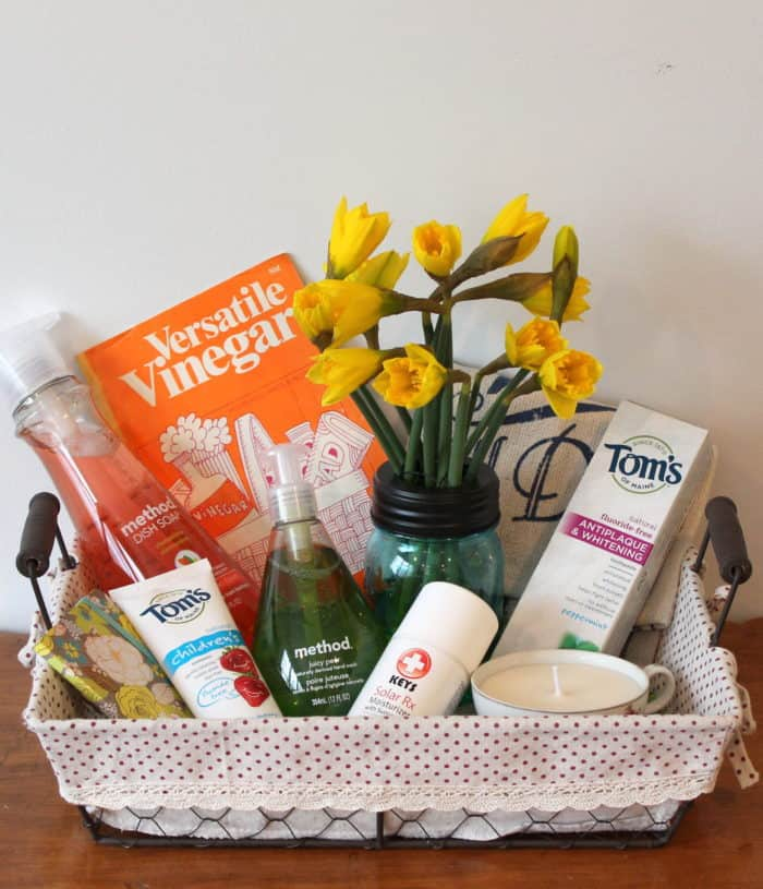 DIY GREEN YOUR HOME Gift Basket For Spring Cleaning