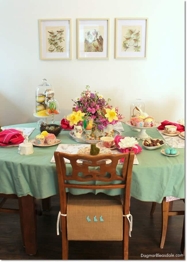 easy Easter tablescape. DagmarBleasdale.com