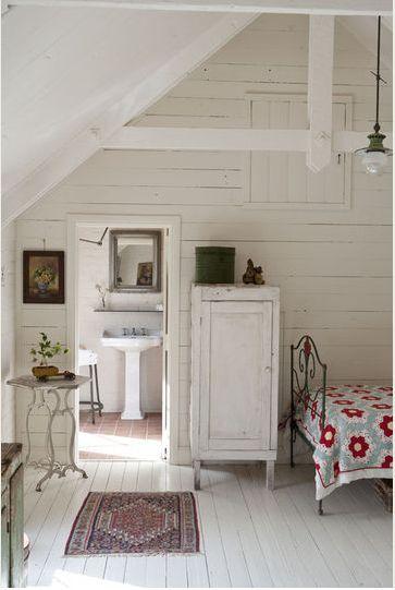 cottage attic bedroom