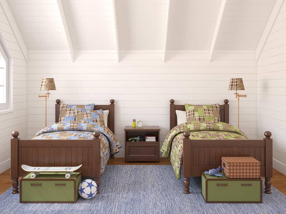 attic kids bedroom