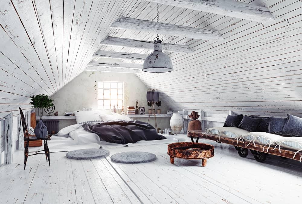 farmhouse attic bedroom design