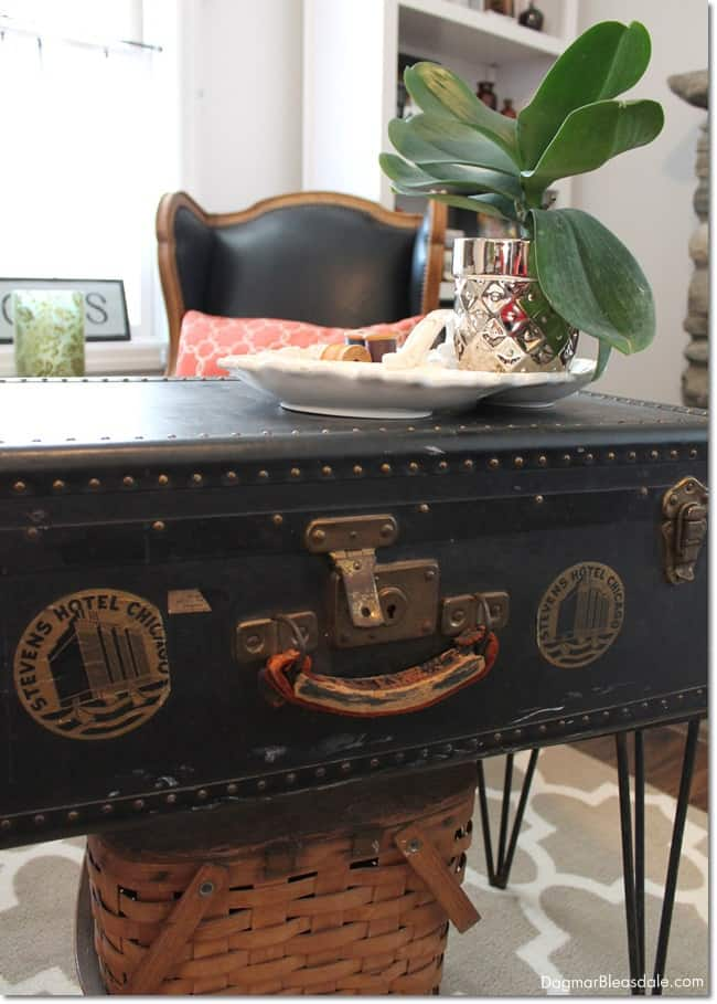 vintage trunk coffee table. DagmarBleasdale.com