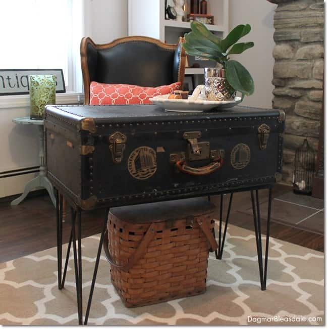 Vintage Trunk Coffee Table Adds To Farmhouse Decor