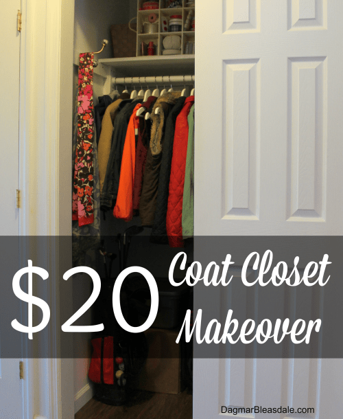 Easy Organizing Project: $20 Coat Closet Makeover