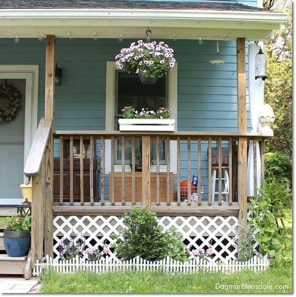adding lattice to bottom of porch