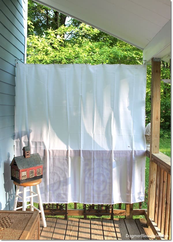 DIY Porch Curtains With Shower Curtain Liner DagmarBleasdale