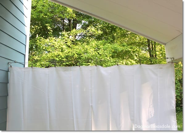 There You Go My DIY Porch Curtains That Cost Less 20 Each And Only Took Half An Hour To Put Together