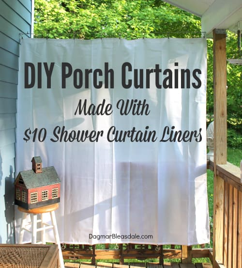 Outdoor Curtains Diy Porch Made With Shower Curtain Liner Dagmarbleasdale