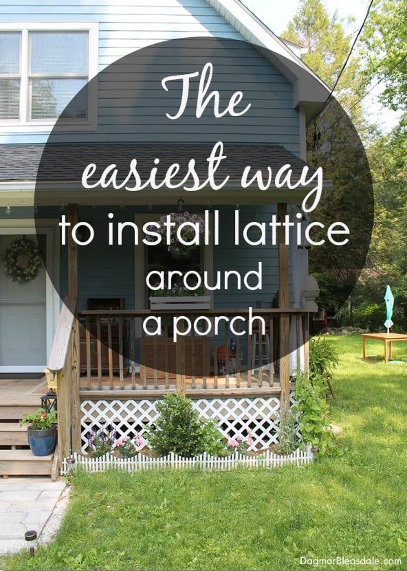 Install Lattice Around a Porch