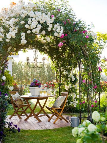cottage garden ideas from Pinterest, rose arch