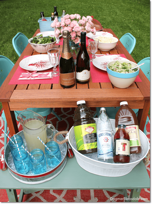 Fun Tablescape for Al Fresco Dining With Gloria Ferrer Wines