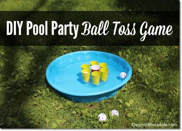 DIY party game, DIY pool party ball toss game, DagmarBleasdale.com
