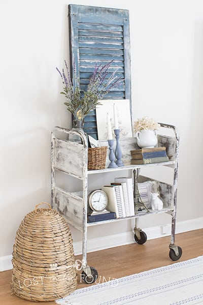 vintage Library Cart Makeover