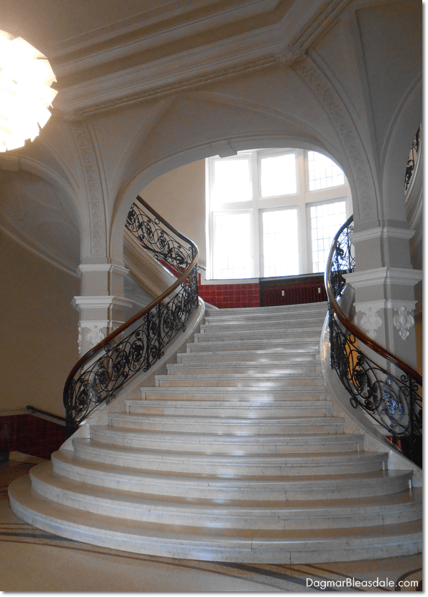 antique staircase in Bremen, Germany