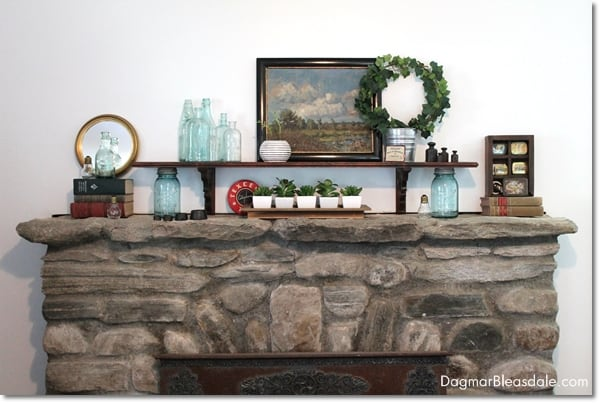 summer mantel farmhouse decor