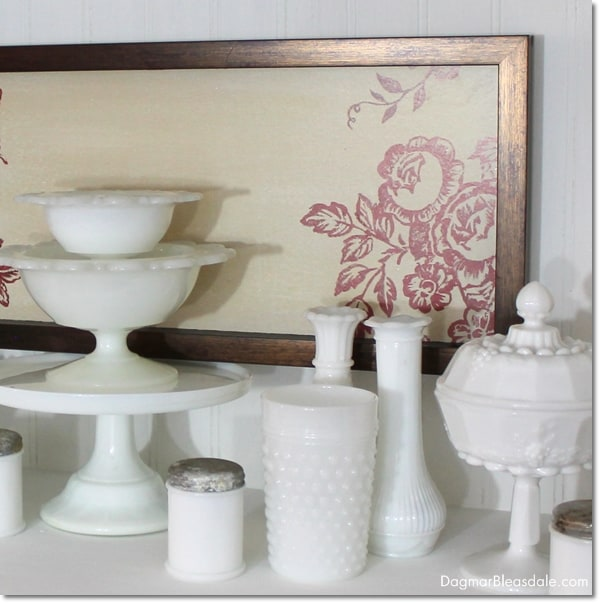 """""""Thrifty & Vintage Finds"""" Link Party #79 — Milk Glass Tumbler"""