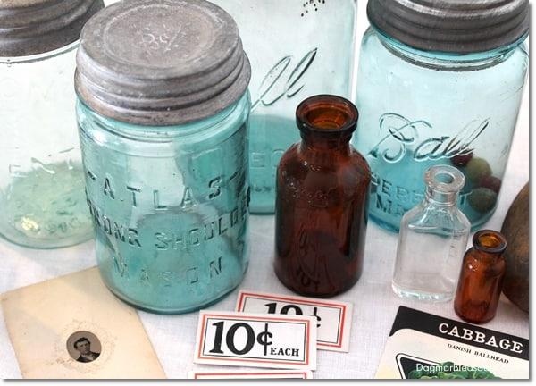 vintage mason jar and finds