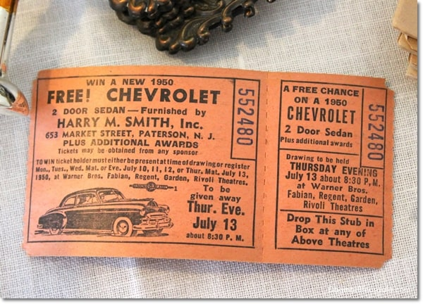 vintage win a chevrolet tickets
