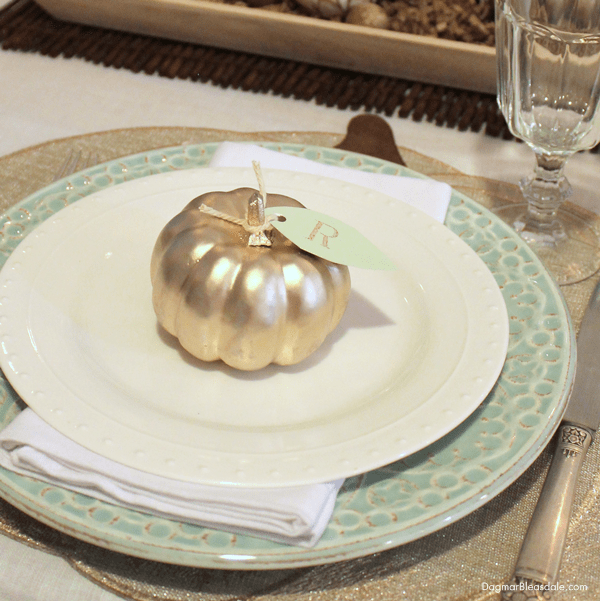 coastal fall tablescape