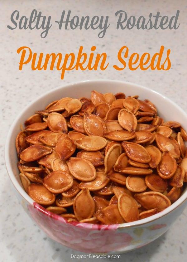 salty honey roasted pumpkin seeds, DagmarBleasdale.com