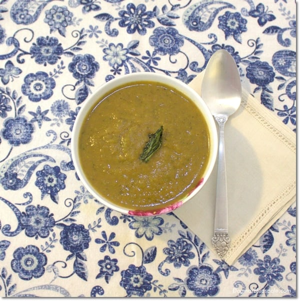 Roasted Broccoli Rabe Soup With Sweet Potato and Onion