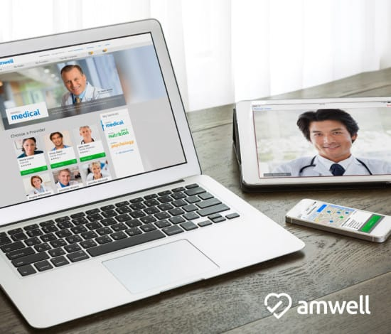 try Amwell for free with coupon code BEWELL2