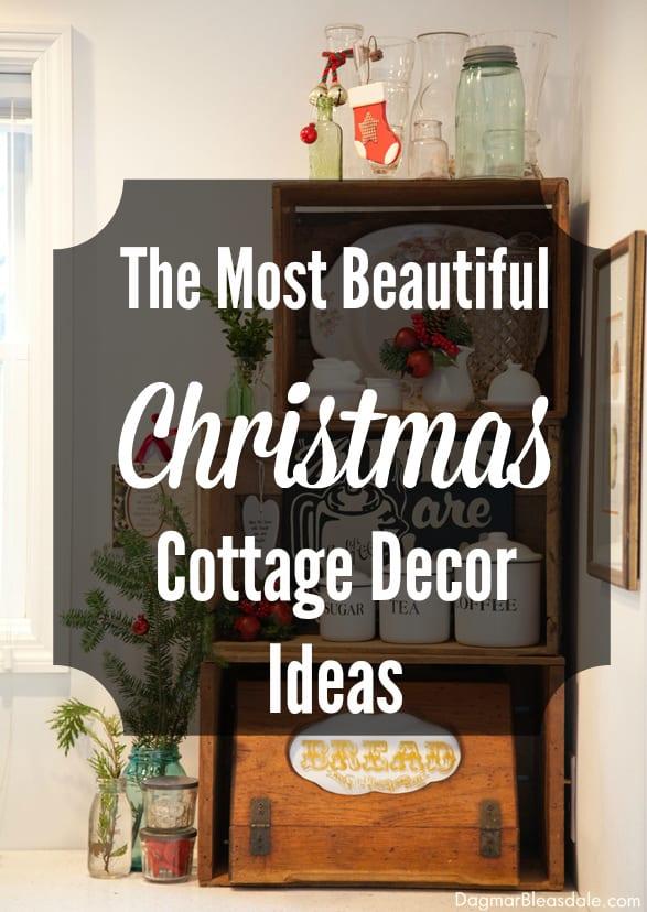 Christmas cottage decor and farmhouse decor