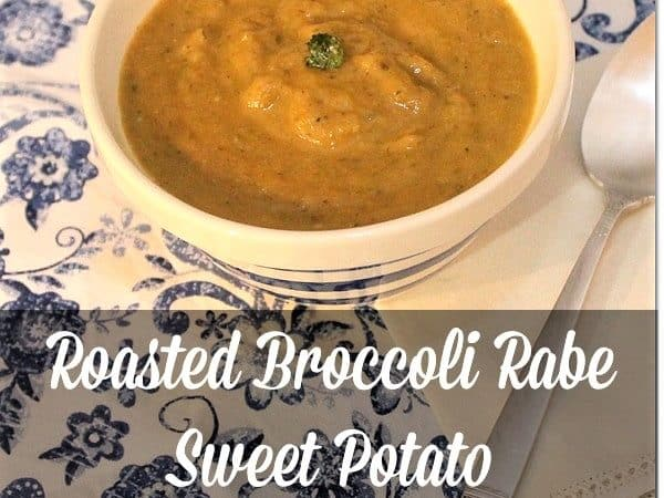 Roasted Broccoli Rabe and Sweet Potato Soup