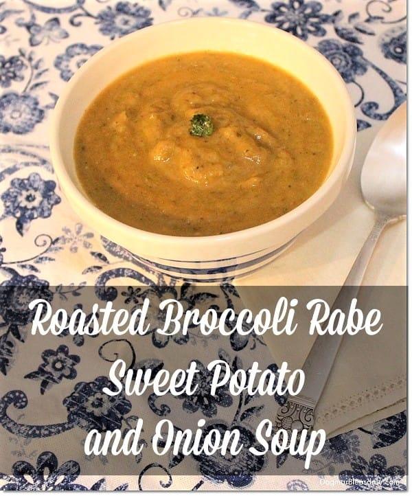Broccoli Rabe and Sweet Potato Soup