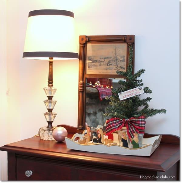 vintage glass base lamp