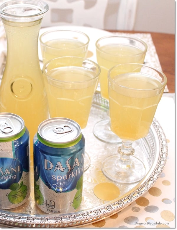 Pineapple Radler Spritzer Drink Recipe for Christmas and New Year's Eve