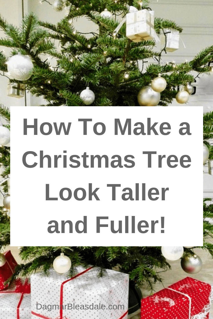Christmas tree taller and fuller